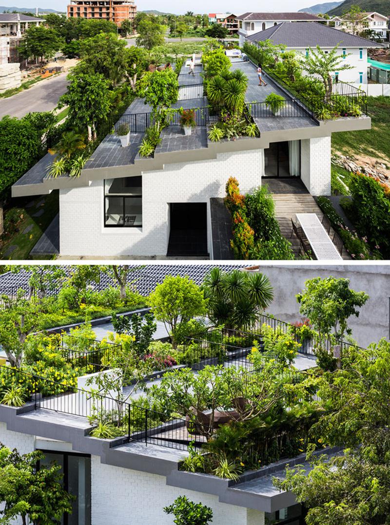 Thiết kế nhà phố có sân thượng đẹp