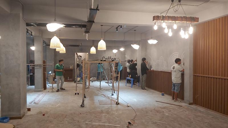 Thi công quán cà phê tại TPHCM