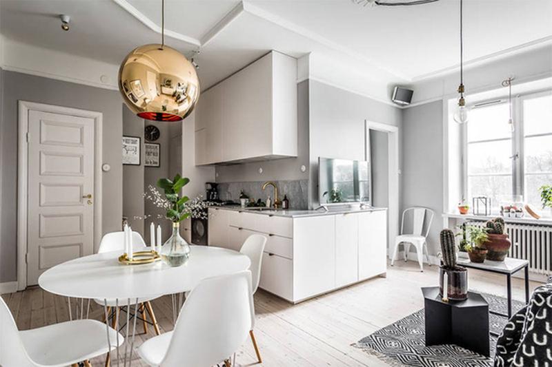 Thiết kế nội thất căn hộ chung cư 60m2 đẹp