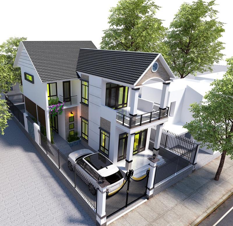 Mẫu thiết kế nhà mái Thái đẹp 2020